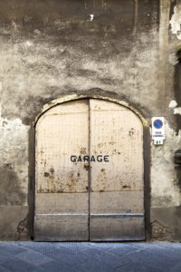 Rusty garage door